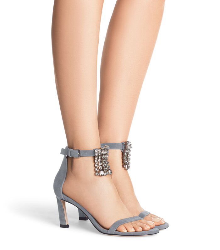 THE 75FRINGESQUARENUDIST SANDAL