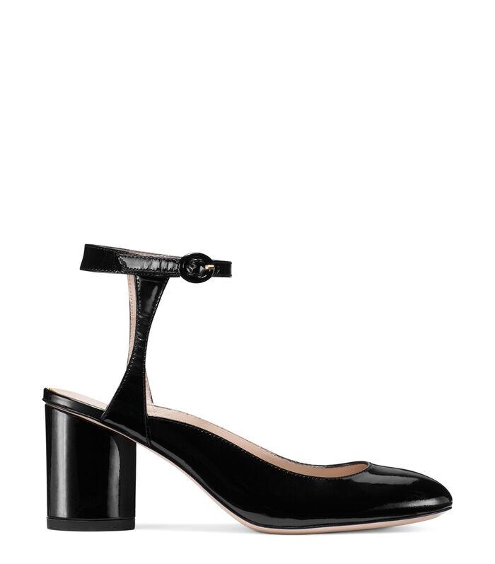 Stuart Weitzman Designer Shoes, Shape Patent Leather Heel Pumps